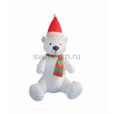 """Надувная 3D фигура """"Белый медведь"""", высота 120 см, внутренняя подсветка 5 ламп, Neon-Night 511-209"""