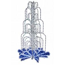 Световой фонтан, высота 4 м, диаметр 2,5 м (с контроллером) синий, Neon-Night 522-117
