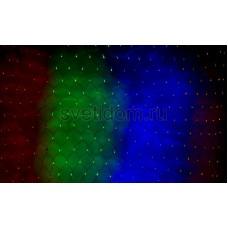 Гирлянда-сеть светодиодная 2*1,5м, свечение с динамикой, черный провод, мульти диоды Neon-Night 215-029