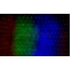 Гирлянда-сеть светодиодная 1*1,5м, свечение с динамикой, черный провод, мульти диоды Neon-Night 215-119