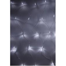 Гирлянда - сеть светодиодная 1,5*1,5м, свечение с динамикой, прозрачный провод, диоды белые Neon-Night 215-125