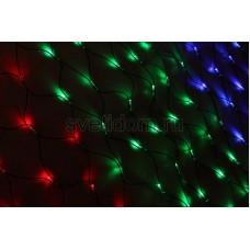 Гирлянда - сеть Чейзинг LED 2*1.5м (288 диодов), каучук, мульти Neon-Night 217-119