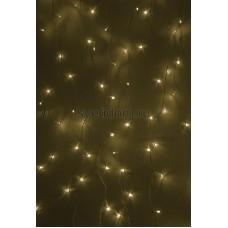Гирлянда Светодиодный Дождь 1,5*1м, свечение с динамикой, прозрачный провод, 220В, диоды тепло-белые Neon-Night 235-026