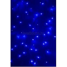 Гирлянда Светодиодный Дождь 1,5*1,5м, свечение с динамикой, прозрачный провод, 220В, диоды синие Neon-Night 235-033