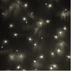 Гирлянда Светодиодный Дождь 1,5*1,5м, свечение с динамикой, прозрачный провод, 220В, диоды тепло-белые Neon-Night 235-036