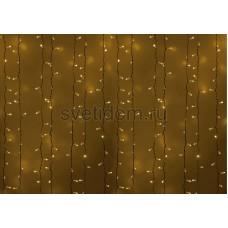 Гирлянда Светодиодный Дождь 2*1,5м, постоянное свечение, белый провод, 220В, диоды желтые Neon-Night 235-111