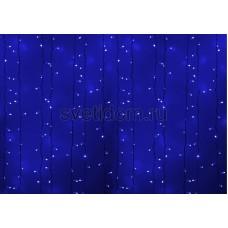 Гирлянда Светодиодный Дождь 2*1,5м, постоянное свечение, белый провод, 220В, диоды синие Neon-Night 235-113