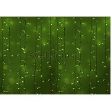 Гирлянда Светодиодный Дождь 2*1,5м, постоянное свечение, белый провод, 220В, диоды зеленые Neon-Night 235-114