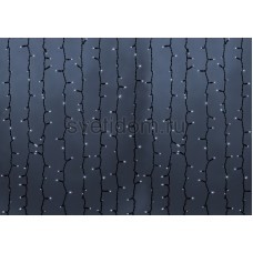 Гирлянда Светодиодный Дождь 2*1,5м, постоянное свечение, темно-зеленый провод, 220В, диоды белые Neon-Night 235-125
