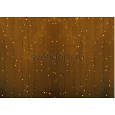 Гирлянда Светодиодный Дождь 2*3м, постоянное свечение, прозрачный провод, 220В, диоды желтые Neon-Night 235-151-6