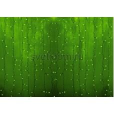 Гирлянда Светодиодный Дождь 2*3м, постоянное свечение, прозрачный провод, 220В, диоды зеленые Neon-Night 235-154-6