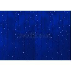 Гирлянда Светодиодный Дождь 2*6м, постоянное свечение, черный провод, 220В, диоды синие Neon-Night 235-163