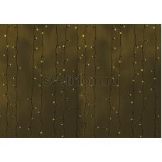 Гирлянда Светодиодный Дождь 2*9м, постоянное свечение, черный провод, 220В, диоды желтые Neon-Night 235-181