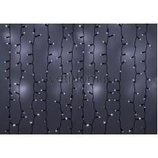 Гирлянда Светодиодный Дождь 2*4м, эффект мерцания, черный провод, 220В, диоды белые Neon-Night 235-202