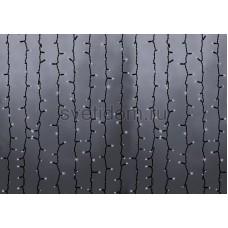 Гирлянда Светодиодный Дождь 2*6м, эффект водопада, черный провод, 220В, диоды белые Neon-Night 235-265