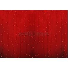 Гирлянда Светодиодный Дождь 2*1,5м, постоянное свечение, прозрачный провод, 220В, диоды красные Neon-Night 235-302-6