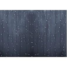 Гирлянда Светодиодный Дождь 2*1,5м, постоянное свечение, прозрачный провод, 220В, диоды белые Neon-Night 235-305