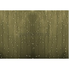 Гирлянда Светодиодный Дождь 2*1,5м, эффект мерцания, прозрачный провод, 220В, диоды тепло-белые Neon-Night 235-316