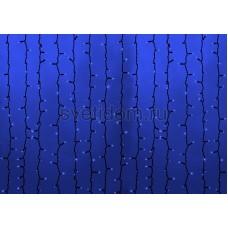 Гирлянда Светодиодный Дождь 2*9м, постоянное свечение, черный провод каучук, 220В, диоды синие Neon-Night 237-183