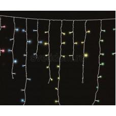 Гирлянда Айсикл (бахрома) светодиодный, 1,8*0,5 м, прозрачный провод, 220 В, диоды мультиколор Neon-Night 255-019