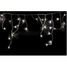 Гирлянда Айсикл (бахрома) светодиодный, 1,8*0,5 м, белый провод, 220В, диоды белые Neon-Night 255-025