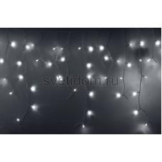 Гирлянда Айсикл (бахрома) светодиодный, 2,4*0,6 м, белый провод, 220В, диоды белые Neon-Night 255-034