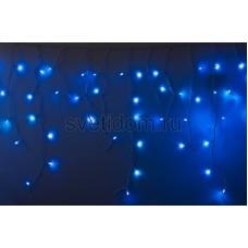 Гирлянда Айсикл (бахрома) светодиодный, 2,4*0,6м, эффект мерцания, белый провод, 220В, диоды синие Neon-Night 255-035