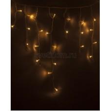 Гирлянда Айсикл (бахрома) светодиодный, 2,4*0,6 м, белый провод, 220В, диоды тепло-белые Neon-Night 255-037-6