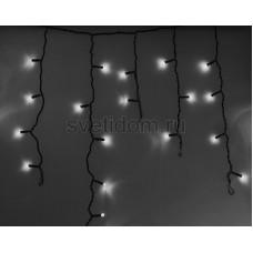 Гирлянда Айсикл (бахрома) светодиодный, 4,8*0,6 м, черный провод, 220В, диоды белые Neon-Night 255-135