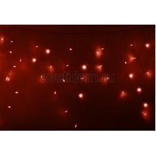 Гирлянда Айсикл (бахрома) светодиодный, 4,8*0,6 м, прозрачный провод, 220В, диоды красные Neon-Night 255-142
