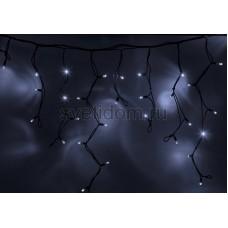 Гирлянда Айсикл (бахрома) светодиодный, 3,2х0,9 м, черный провод каучук, 220В, диоды белые Neon-Night 255-215