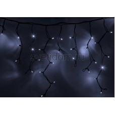 Гирлянда Айсикл (бахрома) светодиодный, 5,6х0,9м, черный провод каучук, 24В, диоды белые, трансформатор в комплекте NEON-NIGHT Neon-Night 255-345