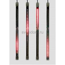 Сосулька светодиодная 50 см, 9,5V, двухсторонняя, 32х2 светодиодов, пластиковый корпус черного цвета, цвет светодиодов красный Neon-Night 256-123