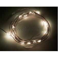 Гирлянда светодиодная Роса, 2 м, 20 диодов, цвет теплый белый Neon-Night 303-006