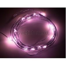 Гирлянда светодиодная Роса, 2 м, 20 диодов, цвет розовый Neon-Night 303-007