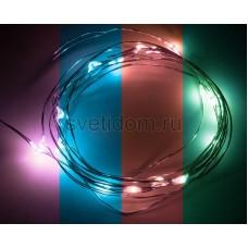 Гирлянда светодиодная Роса, 2 м, 20 диодов, цвет RGB Neon-Night 303-009
