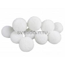 Гирлянда светодиодная Шарики - снежки 3 м 10 диодов, цвет белый Neon-Night 303-075