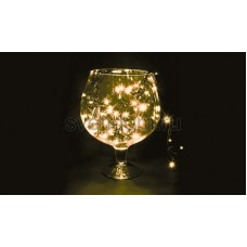 Гирлянда Твинкл Лайт 20 м, 240 диодов, цвет теплый белый, черный провод каучук Neon-Night 303-326