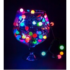 Гирлянда LED - шарики, мультиколор,ф17,5мм, 20 м Neon-Night 303-509
