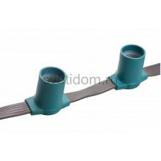 Гирлянда Belt Light серый каучук, 5 жил, шаг 15 см патрон Е27 влагостойкая IP54,100 м (цена зза метр) Neon-Night 331-221