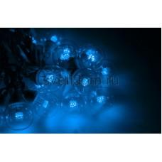 Гирлянда LED Galaxy Bulb String 10м, белый каучук, 30 ламп*6 LED синие, влагостойкая IP54 Neon-Night 331-303