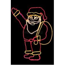 """Фигура """"Санта Клаус с мешком подарков"""", размер 100*100 см Neon-Night 501-312"""