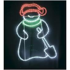 """Фигура светодиодная """"Снеговик с лопатой"""", размер 94*63 см Neon-Night 501-322"""