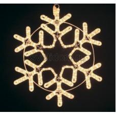 "Фигура ""Снежинка"" цвет тепло-белый, размер 55*55 см Neon-Night 501-324"