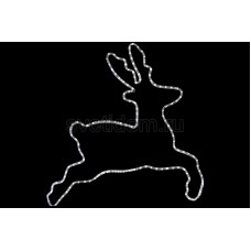 "Фигура ""Бегущий олень"" белый, размер 87*84 см Neon-Night 501-326"