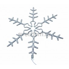 """Фигура световая """"Снежинка"""" цвет белый, размер 95 см, мигающая (2В с контроллером) Neon-Night 501-348"""