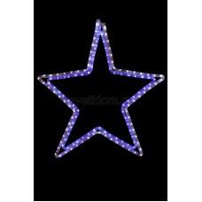 "Фигура световая ""Звезда"" цвет белый/синий, размер 56 х 60 см Neon-Night 501-514"