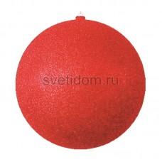 Елочная фигура Шар с блестками, 20 см, цвет красный Neon-Night 502-032