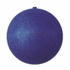 Елочная фигура Шар с блестками, 20 см, цвет синий Neon-Night 502-033
