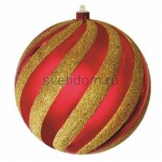 Елочная фигура Шар-карамель, 20 см, цвет красный и золотой Neon-Night 502-068
